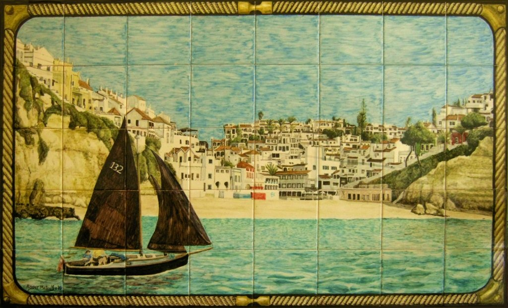 Carvoeiro with sailing boat